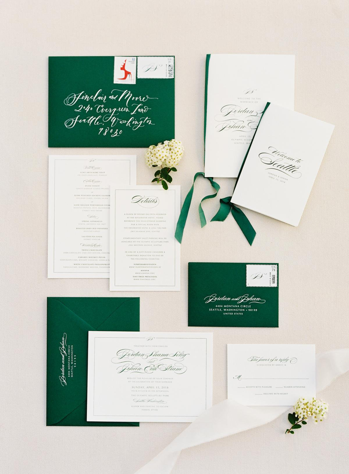Downtown Seattle Emerald Green Wedding 0003
