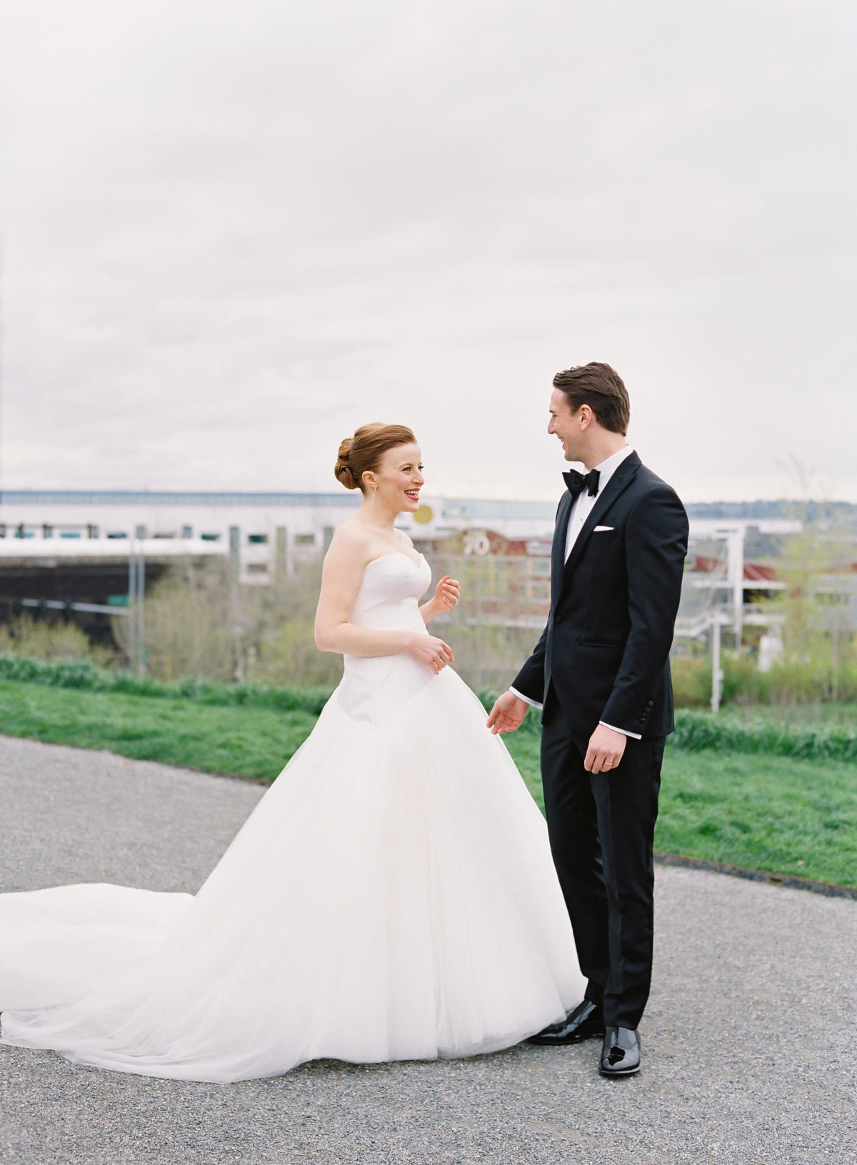 Downtown Seattle Emerald Green Wedding 0010