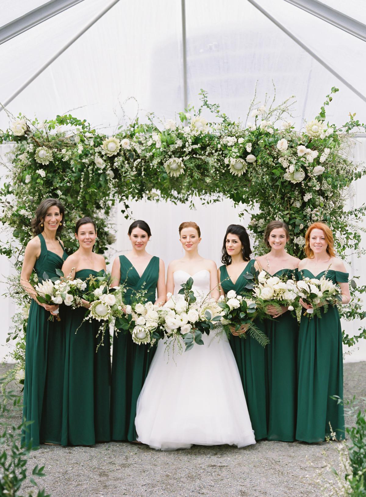 Downtown Seattle Emerald Green Wedding 0021